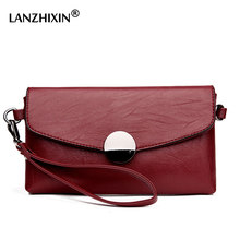 Lanzhixin Fashion Women Day Clutch Bags Cowhide Envelope Small Shoulder Bags Organizer Eevening Party Women messenger bags 1605