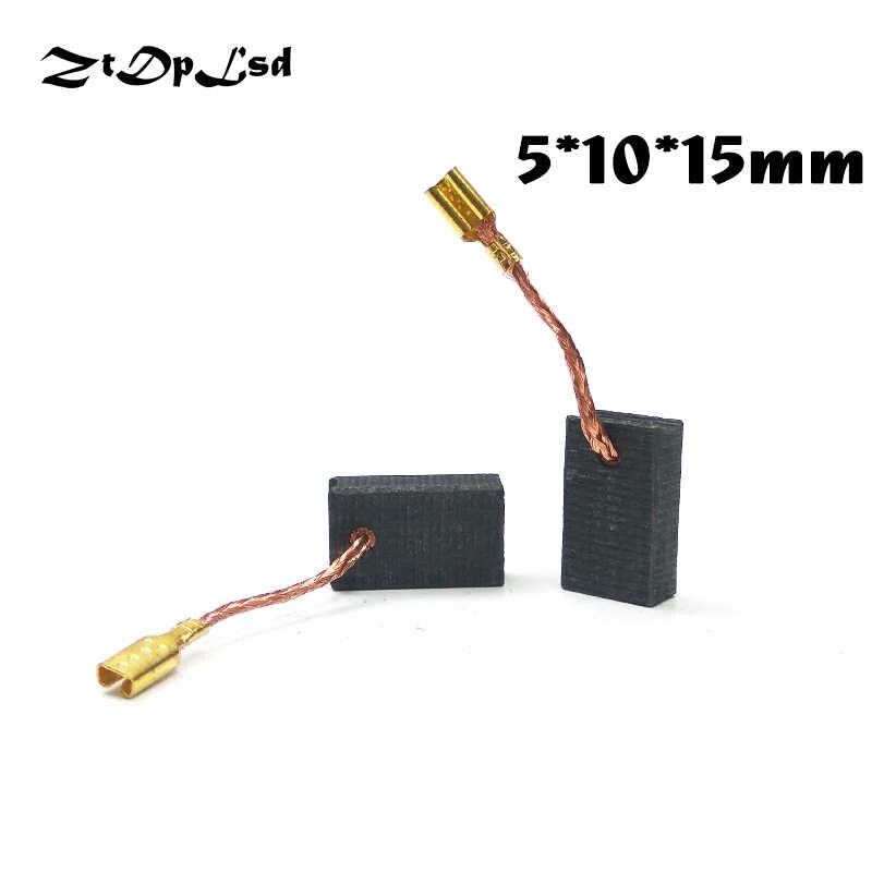 ZtDpLsd 2 шт./партия 5x10x15 мм мини-дрель Замена для электрической мясорубки угольные щетки запасные части для электрического роторного инструмента