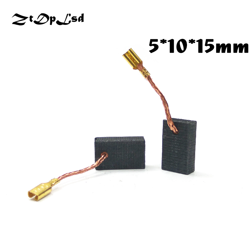 ZtDpLsd 2 Pcs/lot 5x10x15mm Mini Drill Electric Grinder Replacement Carbon Brushes Spare Parts For Electric Rotary Tool