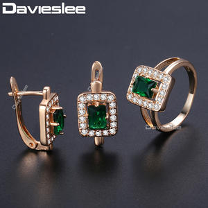 Davieslee Stone Ring For Women Cubic Zirconia Jewelry Sets
