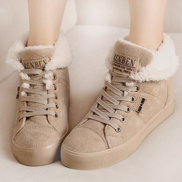 New 2016 fashion fur female warm ankle boots women boots snow boots and autumn winter women shoes #Y2508Q