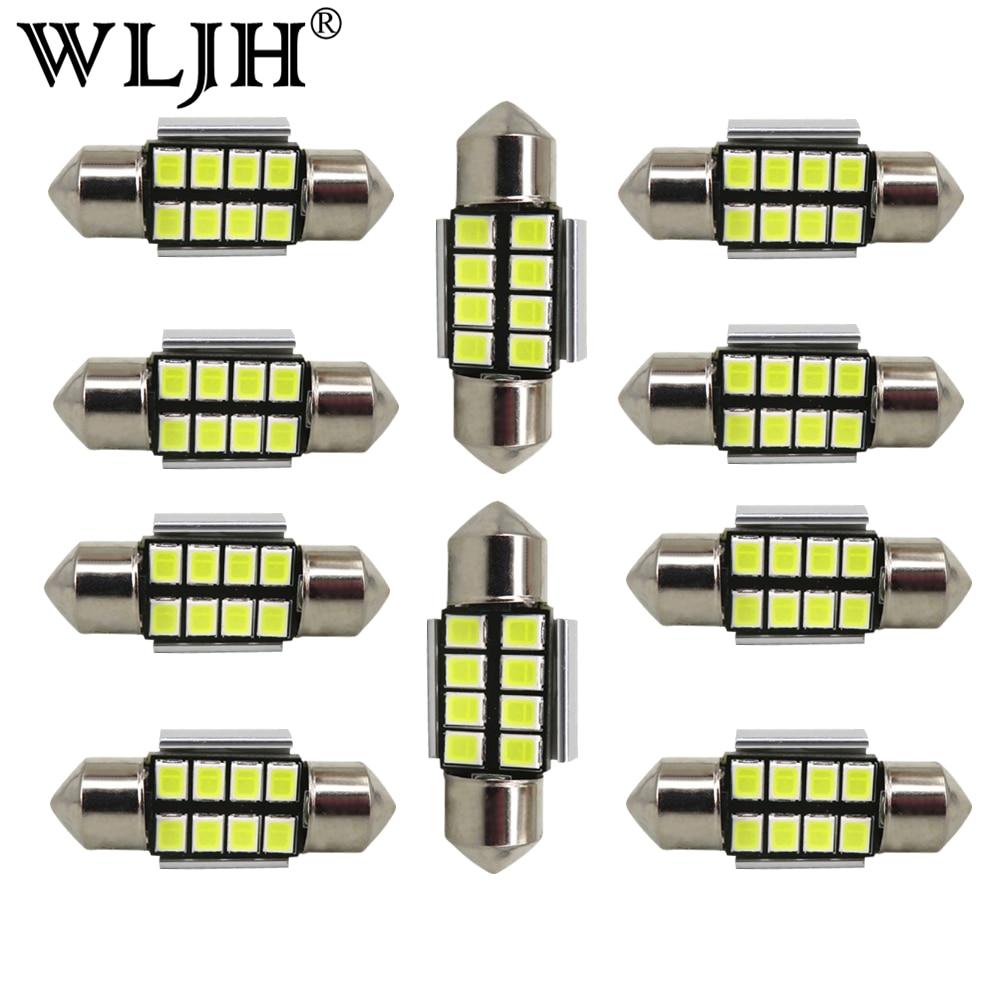 41-42mm C5W Festoon Bulbs 4-5050 SMD Interior Lights LED Error Free Canbus Dome