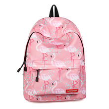 Casual Travel Backpack Women Lovely Flamingo Printing Teenage Gril Backpacks Large Capacity Ladies School Bags Rugzak