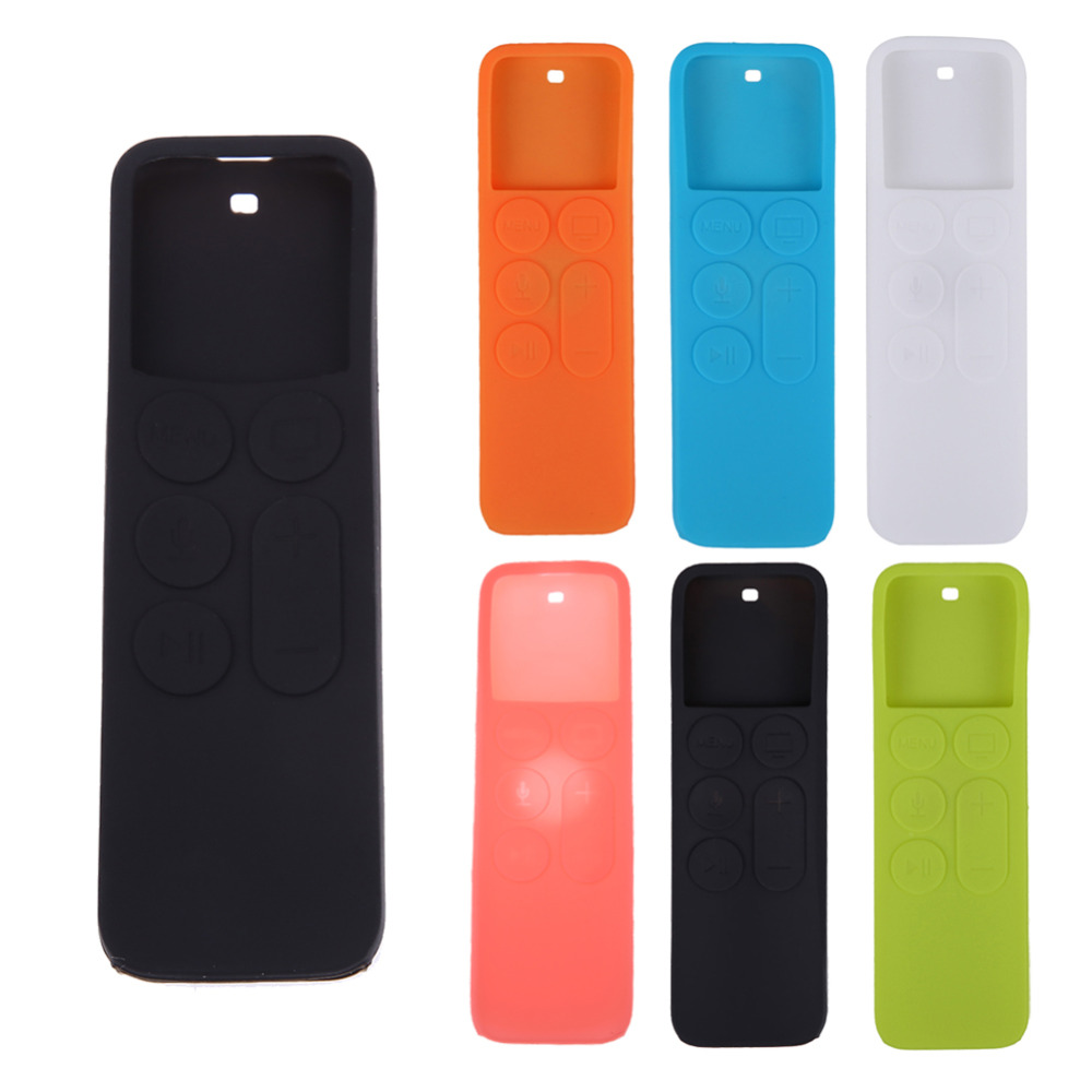 Silicone Cover Dustproof Case for Apple TV 4 Remote Control Protective Cover Household TV Remote Control Holder Organizer