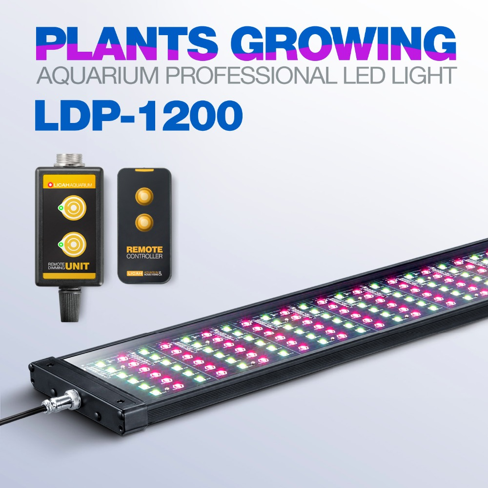 LICAH agua dulce acuario luz LED planta LDP-1200 Shpping libre