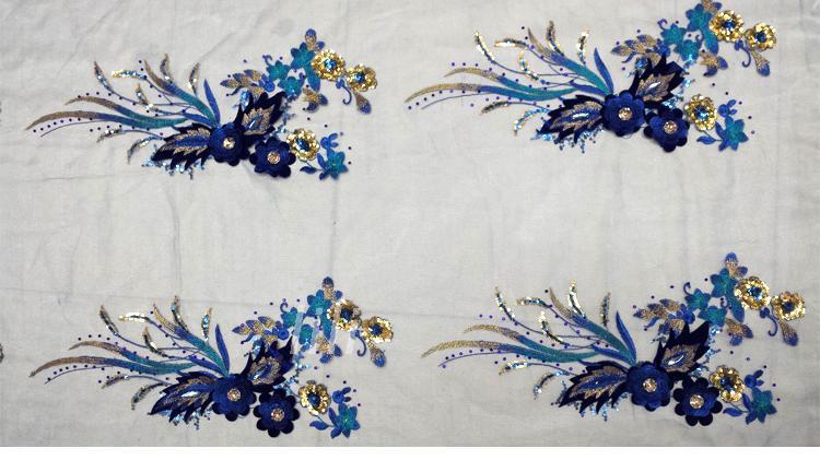 Gratis pengiriman menjahit pada 6 warna patch renda applique 40 * 20 - Seni, kerajinan dan menjahit - Foto 3