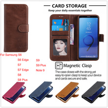 Photo Wallet Case for Samsung S7 S6 Edge Flip PU Cover Galaxy S8 S9 Plus Full Leather Phone Bag Note 9 Note9 Magnetic Shells