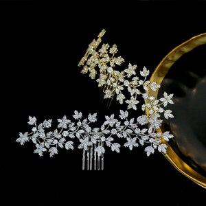Image 2 - Стразы ASNORA Cz, Шпилька для волос, аксессуары для невесты, гребень для волос, женский головной убор, украшения для свадьбы, Корона
