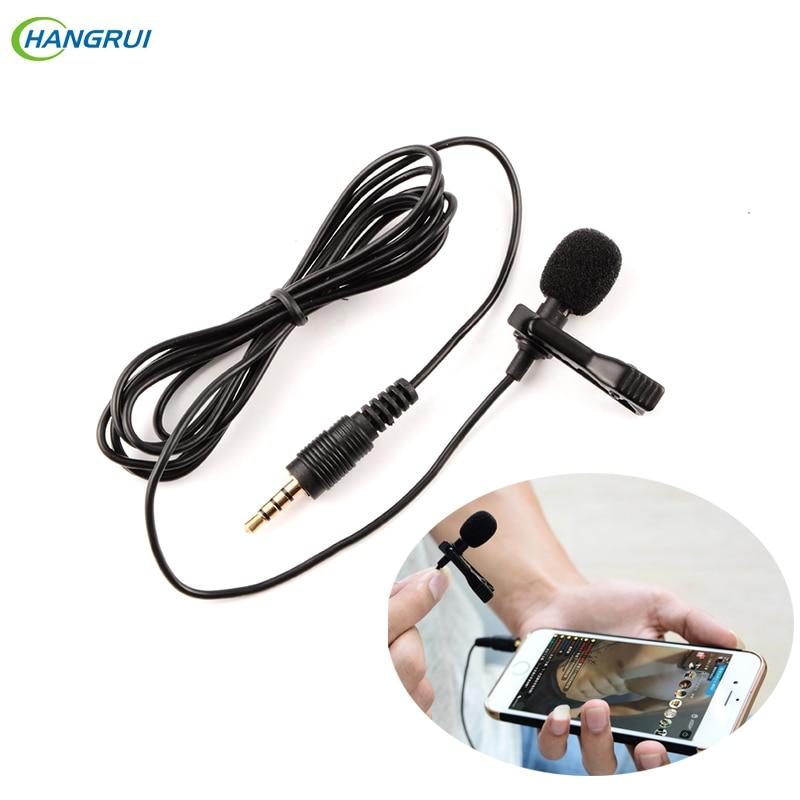 HANGRUI Mini Microphone Clip-on Lavalier 3.5mm Condenser Microphone Voice Recorder Studio Lapel Microfone For Mobile Phone