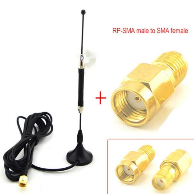 5 unid/lote 4G LTE Omnidireccional Antena 10dbi SMA Antena Magnética para 4G lte Router Modem + RP-SMA macho SMA Adaptador hembra