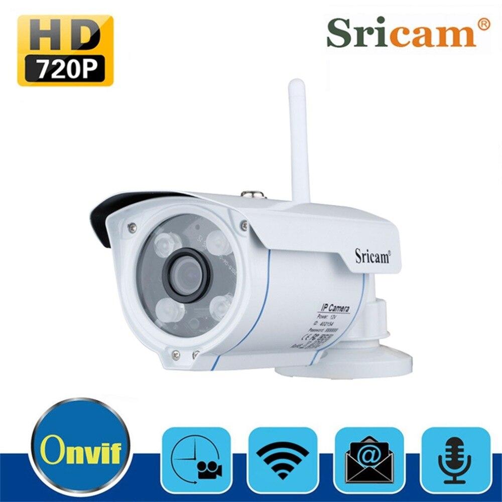 Sricam SP007 IP камера HD720 wifi Onvif 2,4 P2P для смартфона водонепроницаемый антивандальный Ondersteuning 128G SD Tf kaart открытый