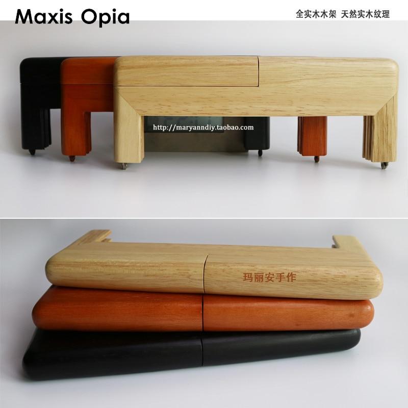 25 CM Nature Color Solid Wood Material China Factory Supplier Wood O Bag Accessories Bandolera DIY Wooden Purse Frame Bag Handle