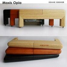 25 センチメートル自然色無垢材中国工場サプライヤー木材 o バッグアクセサリー bandolera diy 木製の財布のフレームバッグハンドルbag handlespurse framewood purse frame