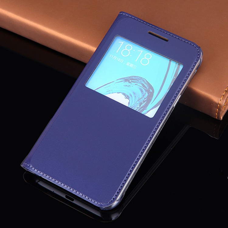 Slim View Window Phone Case Flip Leather Cover Holster Mask För - Reservdelar och tillbehör för mobiltelefoner