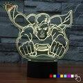 Hot Sales 3D Toque Lâmpada de Iluminação Noturna Brinquedo Avengers Superman crianças Quarto Cabeceira Candeeiro de Mesa Lampara USB CONDUZIU a Iluminação Casa Dispositivo decoração