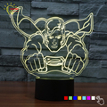 Ventas calientes 3D Toque Lámpara de Noche Iluminación Juguete Avengers Superman niños Habitación Mesita de noche Lampara LED USB Gadget de Iluminación Hogar decoración