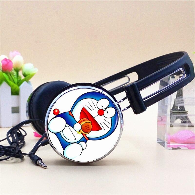 Custom Headsets Anime Doraemon Cartoon Headphone 3.5mm Adjustable Headphone Gaming Headset Stereo Headphones for Phone MP3 PC