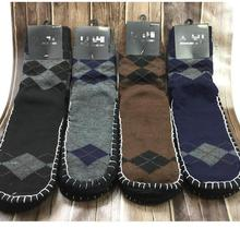 1Pair lot Winter Autumn Warm Floor Thick Long Socks Male Sleep Indoor Carpet Socks Thick Slip