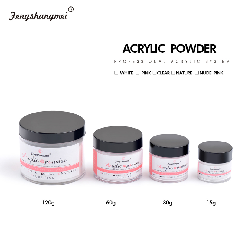 fengshangmei Clear Crystal Nail Sculpture Powder White Builder Powder Liquid For Nail Pink Nail Acrylic Powder acrilico acrylic powder 120g acryl nail poeder for nagels akrilik white akryl pink clear polvo poudre acrylique pour ongle unha