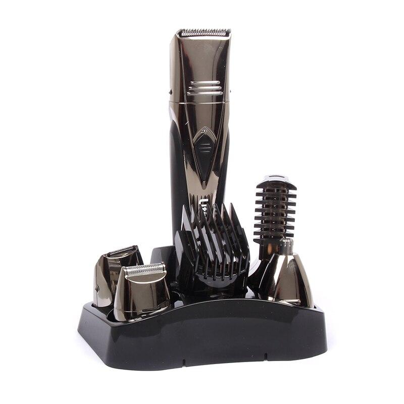 5 en 1 multifonction professionnel électrique tondeuse à cheveux Rechargeable tondeuse à cheveux Machine de coupe de cheveux pour couper la barbe