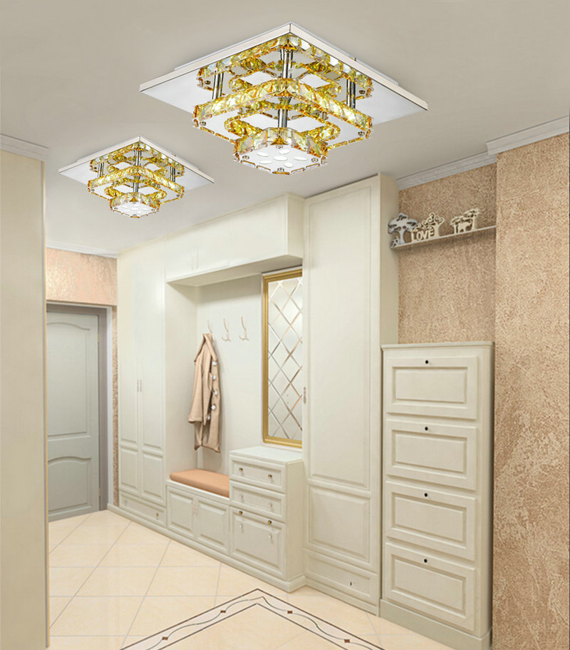 Aliexpresscom Buy Modern led crystal small ceiling lights flush