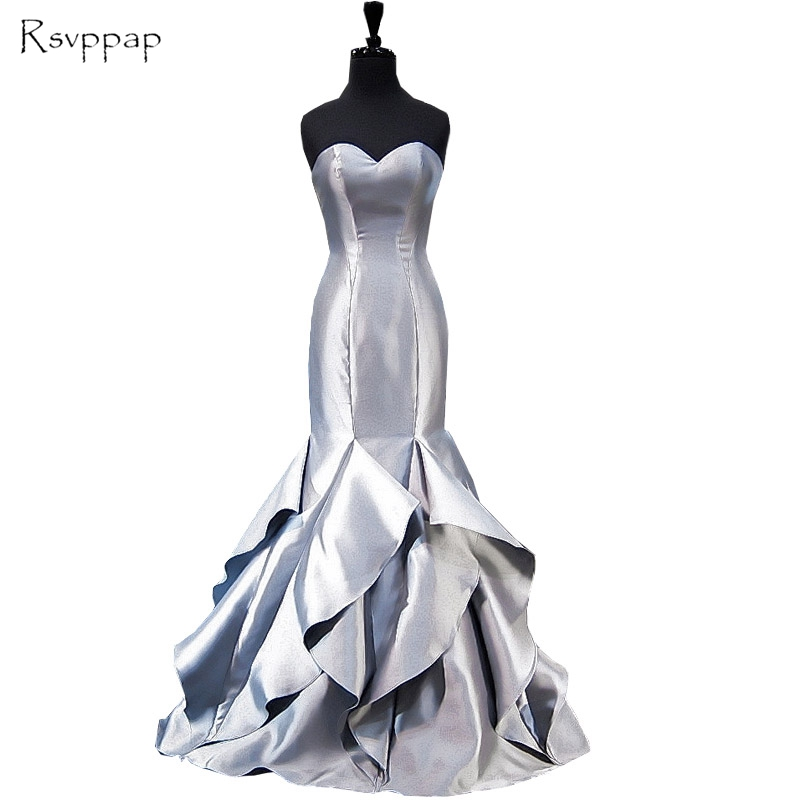 Real Picture Long Evening Dress 2018 Mermaid Sweetheart African ...