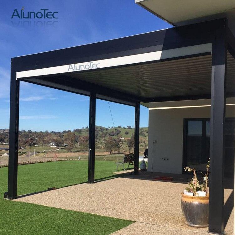 Electric Customized Pergola Opening Patio Aluminium Louver Roof ...