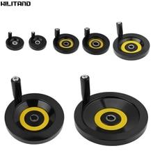 Revolving Handle Hand Wheel Lathe Milling Machine Rear Ripple Hand Wheel With Revolving Handle 63mm 80mm 125mm 160mm 200mm