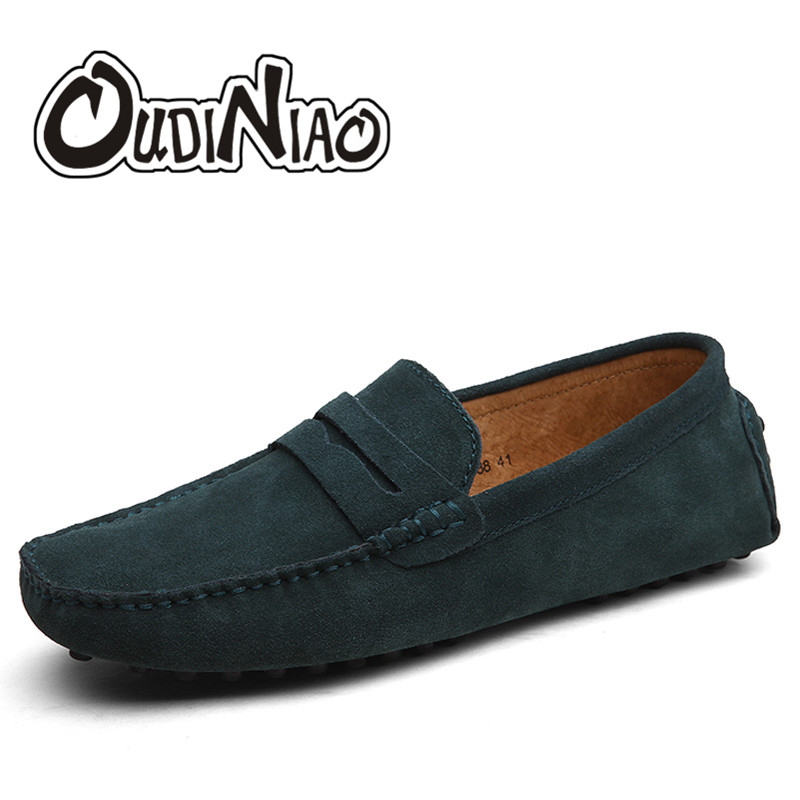 OUDNIAO Men Casual Shoes 2017 Fashion Men Shoes Split Leather Men Loafers Moccasins Slip On Men's Flats Loafers Male Shoes cyabmoz 2017 flats new arrival brand casual shoes men genuine leather loafers shoes comfortable handmade moccasins shoes oxfords