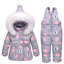 2017 new Winter children clothing sets girls Warm parka down jacket for baby girl clothes children's coat snow wear kids suit