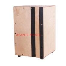Afanti Music Birch Wood / Natural Cajon Drum (KHG-165)
