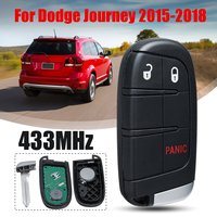 3/4/5 Button 433MHz Smart Remote Car Key for Chrysler for Dodge Charger Journey Challenger Durango M3N 40821302 No Mark
