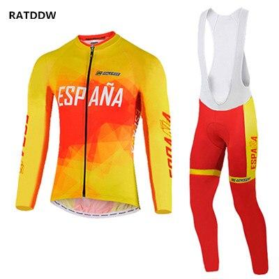 Espana Ropa Ciclismo Велоспорт Джерси с длинным рукавом MTB кофта для велоспорта горный мужской велоспорт одежда спортивная одежда - Цвет: Оранжевый