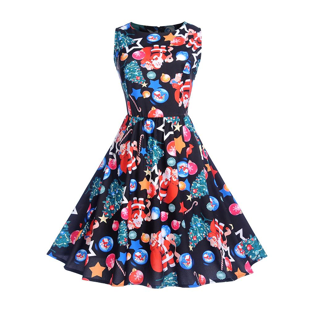 Womens Summer Dresses 2018 Women Robe Elegant Vintage Retro Swing Rockabilly Dress High Waist Floral Runway Rockabilly Dress
