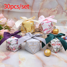 30pcs Wedding Favors Flamingo Chocolate Box Deer Candy Diamond Shape Thank You Gifts
