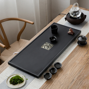 Metal Serving Trays | One Tea Tray Metal Tea Filteration Invisible Water Draining Holes Complete Stone Tea Table Heavy Weighed Serving Trays Large