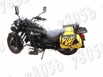 Universal Flame Side Bag Saddle Bags For Motorcycle Street Bike