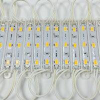 20 sztuk 5630 5730 3 modułu led oświetlenie na znak DC12V wodoodporna super jasne smd moduły led zimny biały darmowa wysyłka w Moduły LED od Lampy i oświetlenie na