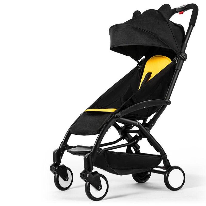 Léger bébé poussette pliante pratique voyage nouveau-né bébé landau en alliage d'aluminium enfant transport