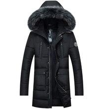 Winter Jacket Men 2017 Brand Casual Mens Jackets Coats Fashion Detachable Fur Hooded Collor Thick Parka Men Outwears Natural fur