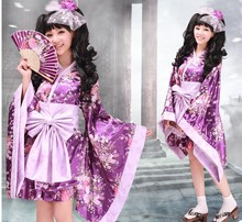 Purple Modern Japanese Yukata Dress