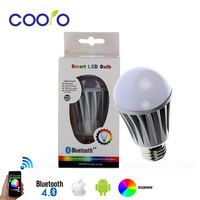 LED Bulb Light Bluetooth E27 RGBW 7.5W Bluetooth 4.0 Smart LED Bulb Timer Color changeable by IOS / Android APP