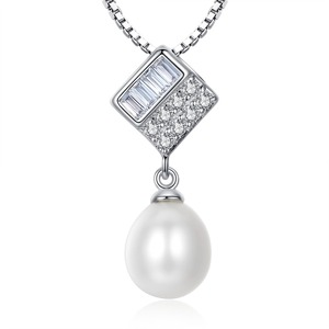 100% Guaranteed Real Solid 925 Sterling Silver With Natural Freshwater Pearl Pendant YH40859
