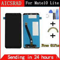 AICSRAD White Black For Huawei Mate 10 Lite LCD Display Digitizer Touch Screen Panel Glass For