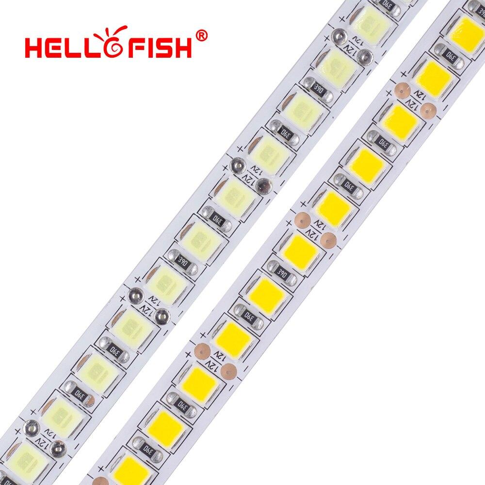 Светодиодные ленты светильник светодиод rgb светильник лента Подсветка светильник 12V 5m 600 LED 5054 IP67 Водонепроницаемый белый/теплый белый