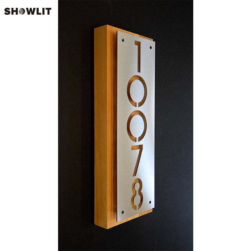 Custom Modern House Number Address Plaque In MetalCustom Modern House Number Address Plaque In Metal