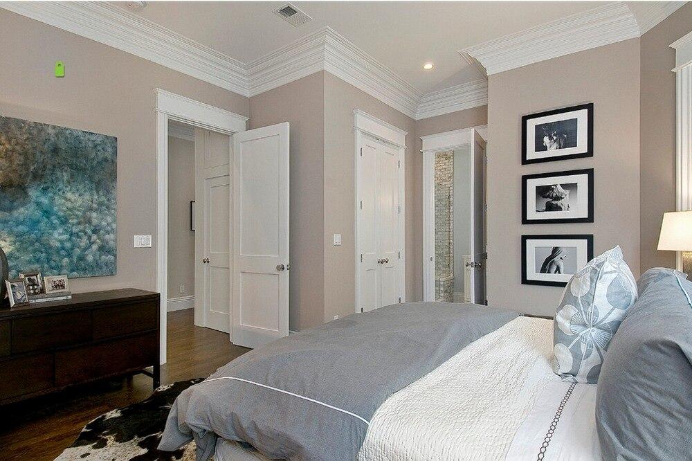 2017 Новый стиль высокопрочный шейкер квадратные профили твердая деревянная дверь краска класс межкомнатные деревянные двери кровать двери