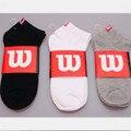 5 pairs wilson hombres harajuku calcetines de algodón hombres summer sección delgada ocasional estándar masculino barco calcetines meias masculinas calcetines de la nave