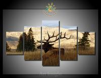 5 Pieces/set African Deer Modern Printed Painting on Canvas Wall Art Picture Home Decoration Living Room Canvas Wall Art
