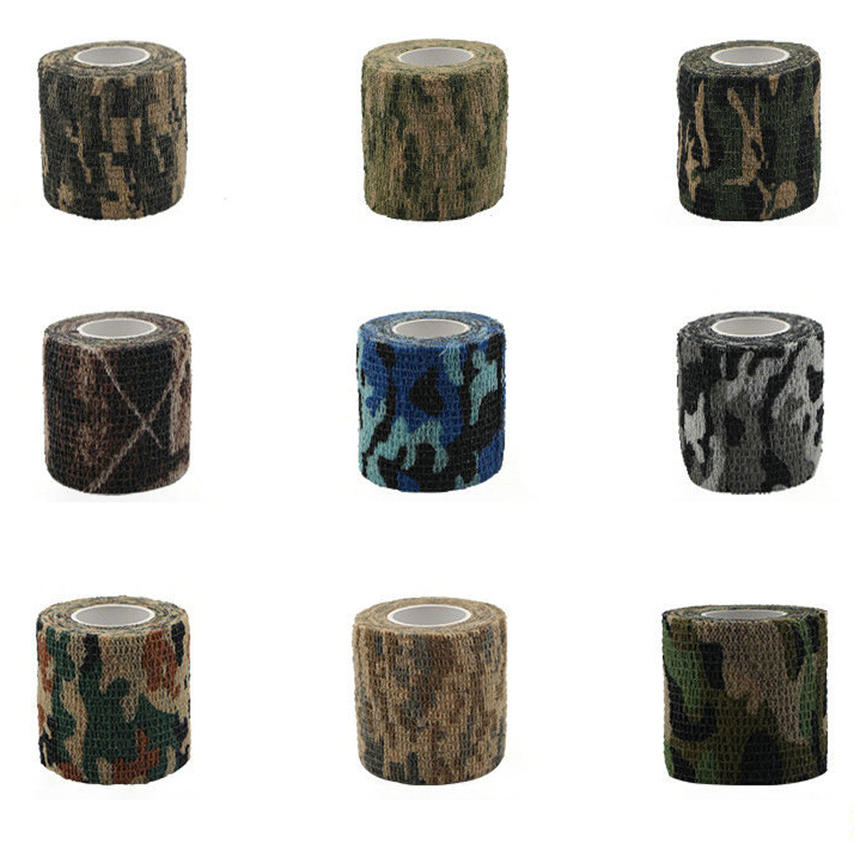 Image 2 - Travel camping Camouflage camouflage Self Adhesive Medical Bandage Gauze Tape First Aid Kit for Sport Ankle Finger Muscle Ankle-in Emergency Kits from Security & Protection